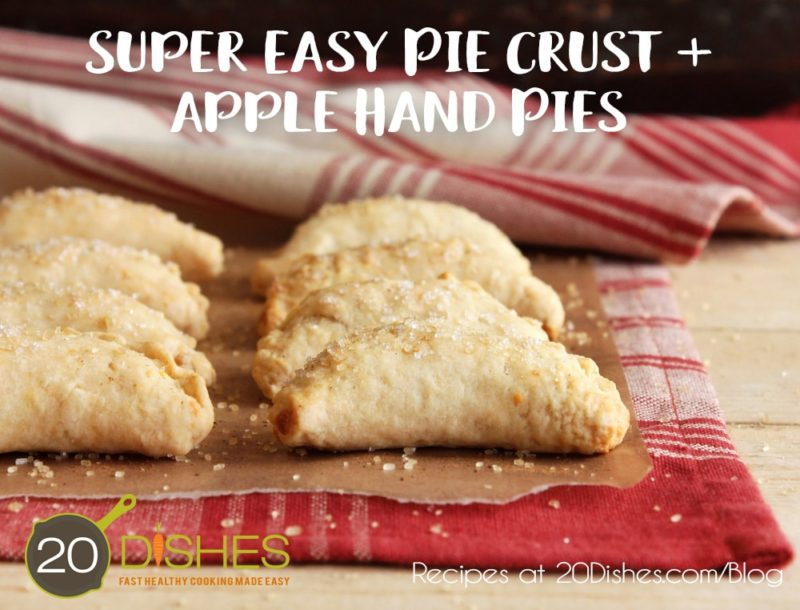 Super Easy Pie Crust + Apple Hand Pie Recipes {Gluten-Free, Grain-Free, Dairy-Free} // 20Dishes.com